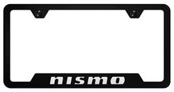 Special Cut Black Nismo License Frame