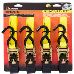 15 ft. High Tension Ratchet Tie-Downs (4 Pack)
