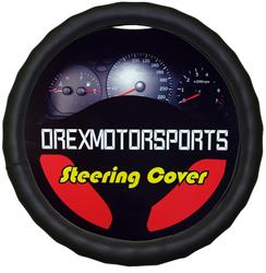 Leather Steering Wheel Cover, Black