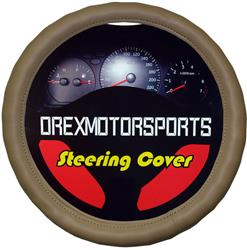 OrexMotorsports - Leather Steering Wheel Cover, Beige