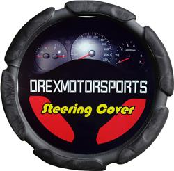 Bubble Cushion Steering Wheel Cover, Black